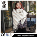 Newest design beige color oversize winter warm infinity scarf