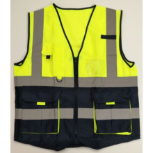 High visibility warning vest reflective tape