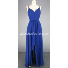 Royal Silk Chiffon Bridesmaid Dress Vestidos De Noite