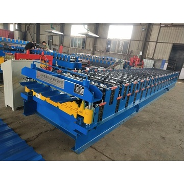 Double Layer Roof Forming Rolling Machine In Building