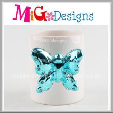 Unique Diamante Design Ceramic Crafts for Present Cup