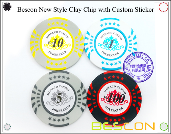 Bescon New Style Clay Chip with Custom Sticker-3