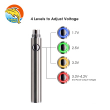 Dual charge port 1.7V 4.2V variable voltage cartridge battery 14mm 400mah 650mah vaporizer battery 510 thread