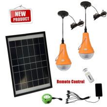 Portátil de suministro CE fábrica solar led lámpara de camping con panel solar
