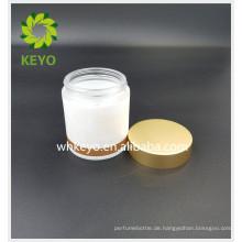 100g Schlafmaske Behälter Gesichtscreme Glas Glas leer Glasflasche mit gold Deckel