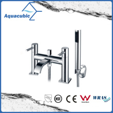 Round Body Dual Handle Bath Faucet with Hand Shower (AF1511-2A)
