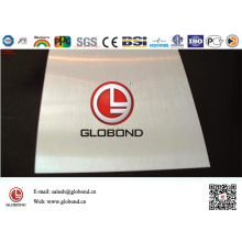 Globond Brushed Stainless Steel Sheet 042