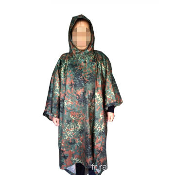 Camouflage Polyester Military Rain Poncho