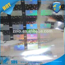 Na moda, design hologramas de ponto-matriz / holograma de decoração, rolo de filme