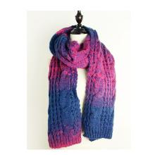 Womens Twist Pattern Knitted Scarf Winter Wrap Shawl Scarf (SK105)