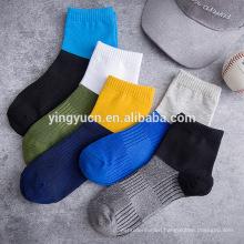 Hot Sale Solid fashion invisible boat socks boat men ankle socks cotton ankle socks