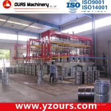Ligne 200L de placage de baril, ligne automatique de placage de support en U