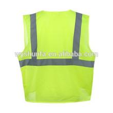 Американский стиль флуоресцентной желтой сетки летний отражатель безопасности жилет