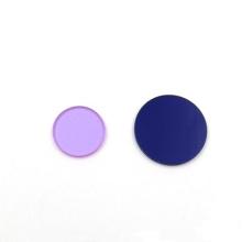 Filtros personalizados azul vidro cor de absorção visível