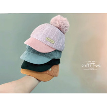 Chenille fabric children winter hats basketball cap