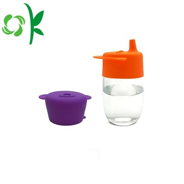 Non-beracun Silicone Coffee Straw Cup Lids untuk Anak-Anak