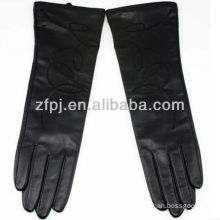 women leather glove winter cashmere lined
