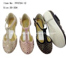 Горячая буровая девочка плоские танцевальные туфли Принцесса обувь (FF0724 -12)