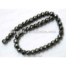 12x12MM soltar Hematite magnético 6Faced Twist Beads 16 ""