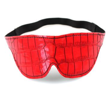 Eye Mask Red Adult Sex Toy Crocodile Grain Good Quality Sex Tool Sex Eye Mask
