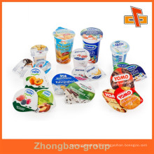 Guangzhou Zhongbao wholesale food grade die cut pieces aluminum foil yogurt lid