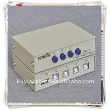 4 Port USB 2.0 PC Scanner Printer Sharing Switch Box