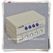 4 Port USB 2.0 Scanner para PC Printer Sharing Switch Box