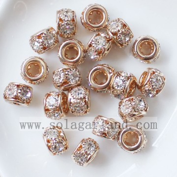 Disco distanziale metallo 8MM perline cristallo di Rocca all'ingrosso perline Charms
