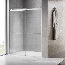 Bathroom Luxury Frameless Shower Door Sliding Enclosure Double Sliding Customize Tempered Glass Bath Bypass Shower Doors