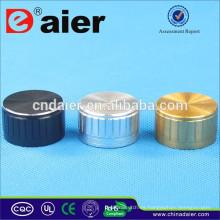 AL-18T 6mm volumen moleteado perillas de amplificador de perilla de aluminio cepillado