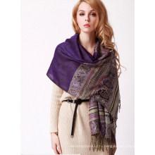 2015 мода воздуха-состояние цветы печатных шарф шали (MU6625)