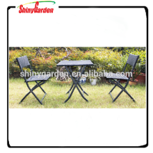 3pcs outdoor rattan folding bistro dining set