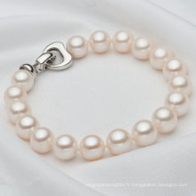 Bracelet de perles cultivées en eau douce de 8-9mm Round (E150037)