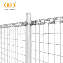 Hot sale powder coated ornamental welded double loop wire fence roll top fence price