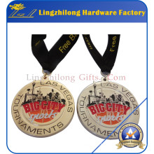 Medalla de premio personalizada con cinta