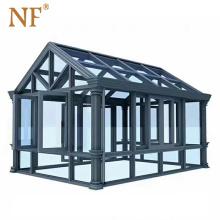 Golden supplier aluminium sunroom glass house prefab houses
