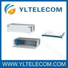 19 Inch 2U 48Core Sliding Fiber Optic Patch Panel ODF Fixed Type