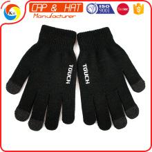 Выпуск фабрики акриловые трикотажные перчатки зимы touchscreen весь цвет изготовленный на заказ