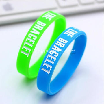 Custom Design Silk Print Silicone Rubber Band