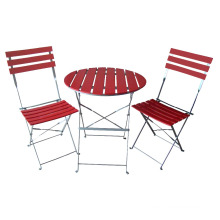 powder coated Metal frame folding bistro chair