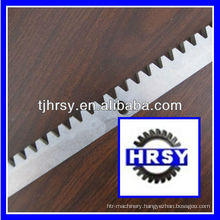 Straight tooth gear rack for sliding gate