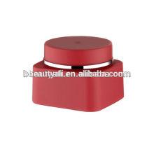 30г 50г Красный пластиковый косметический квадратный ПП Jar крем бутылка двойной стены крем 50г матовый банки Эко PP крем банки