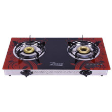 Double Burner Gas Stove, Glass Material