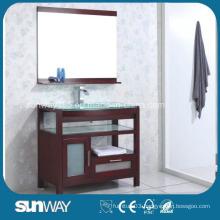 Floor Standing Solid Wood Bathroom Cabinet with Sink