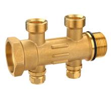 T1189 Colectores de agua de latón estampados en caliente Conexiones de latón de 2 vías