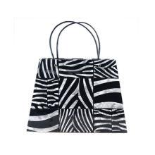 Promotion Custom Printed Logo Plain Shopping Gift Kraft Paper Bag With Rope Handle