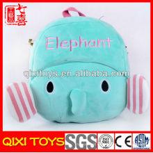 Mochila de elefante de felpa de animales de moda de venta caliente para niños