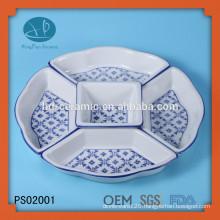 Ceramic Material and Porcelain Ceramic Type 5 compartment dinner plates