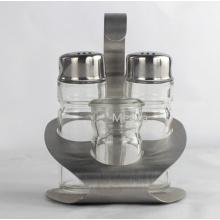 OEM neue Edelstahl und Glas Öl und Essig Flasche mit Stand