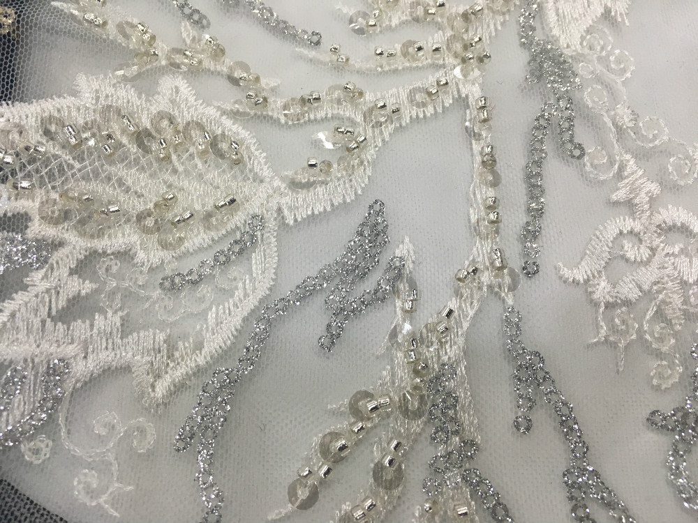 Glitter Sequins Embroidery Fabric